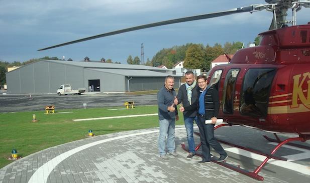 Tým Hypera Aviation Solutions předal zákazníkovi do užívání první soukromý heliport s možností nočního provozu za podmínek VFR v České republice